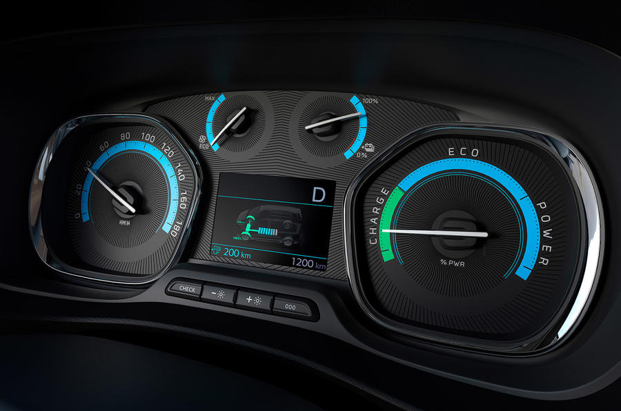 Peugeot e-Traveller 2020 - dials
