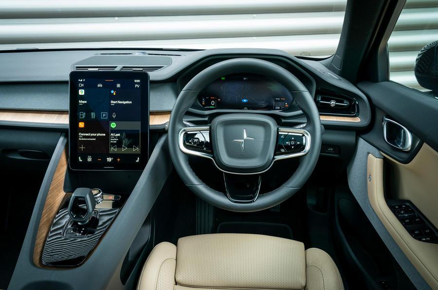 Polestar 2 2020 UK first drive review - dashboard