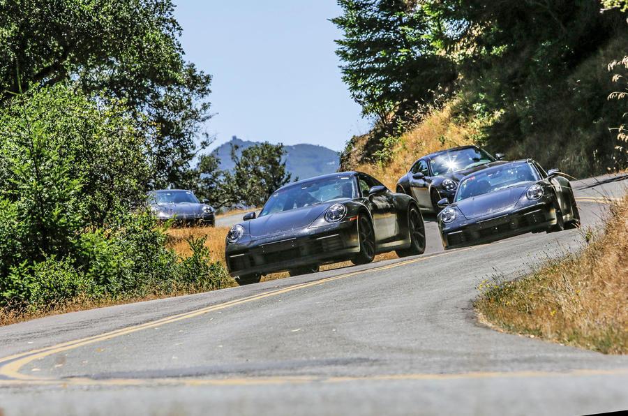 2019 Porsche 911 prototype first ride - cornering