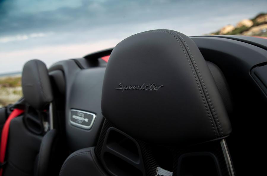 Porsche 911 Speedster 2019 first drive review - seat details