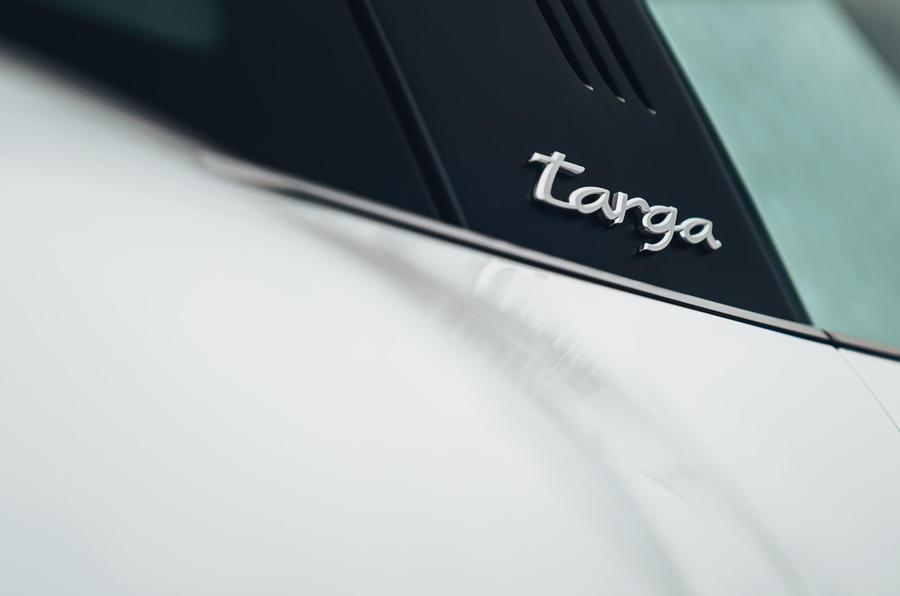 Porsche 911 Targa 2020 UK first drive review - side badge
