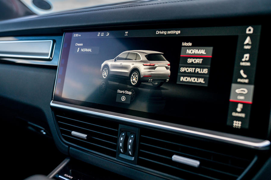Porsche Cayenne 2018 UK first drive review infotainment