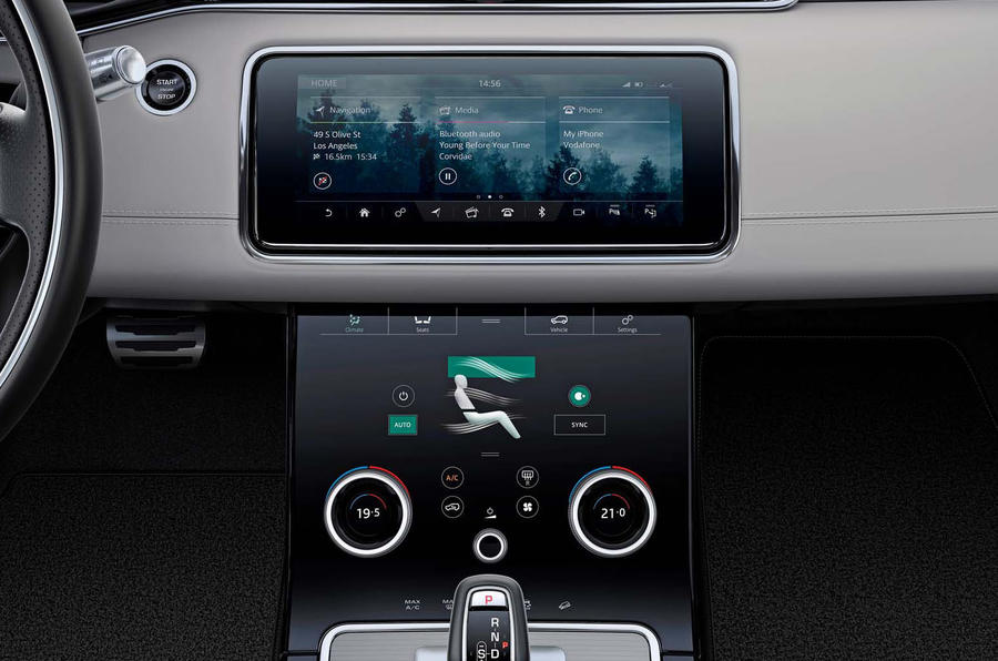 Range Rover Evoque 2019 official reveal - onroad infotainment