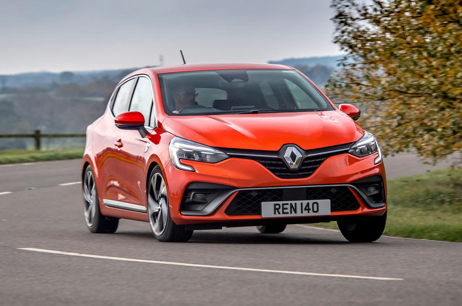 Renault Clio E-Tech hybrid 2020 UK first drive review - cornering front