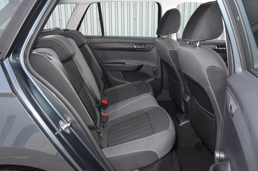 skoda fabia estate back seat