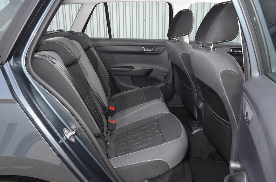 skoda fabia estate back seat
