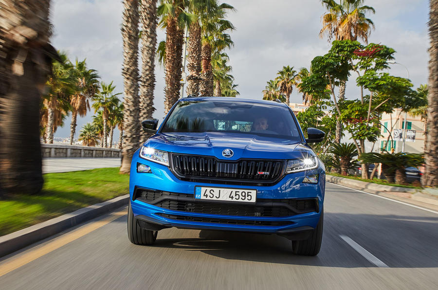Skoda Kodiaq vRS 2018 first drive review - on the road nose