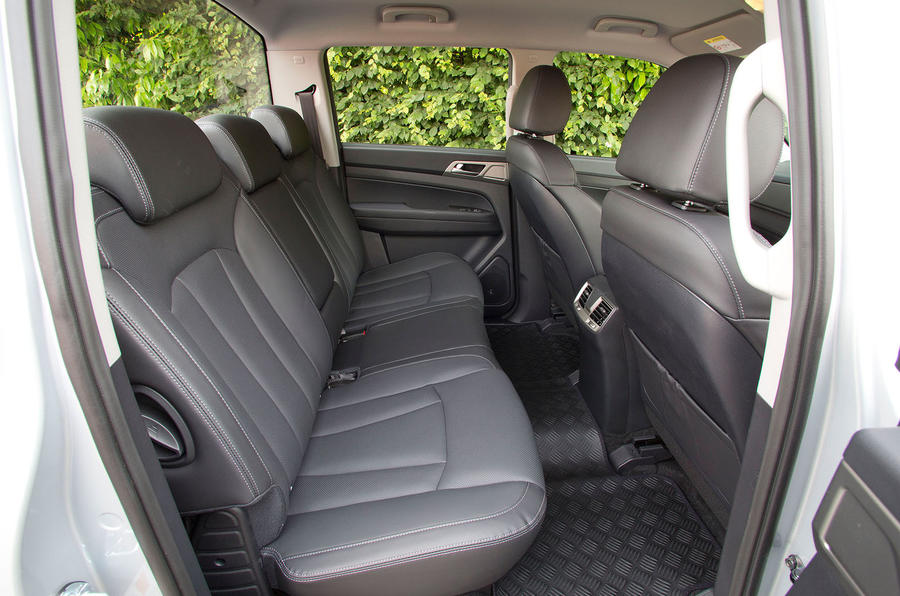 Ssangyong Musso Saracen 2018 first drive review rear seats