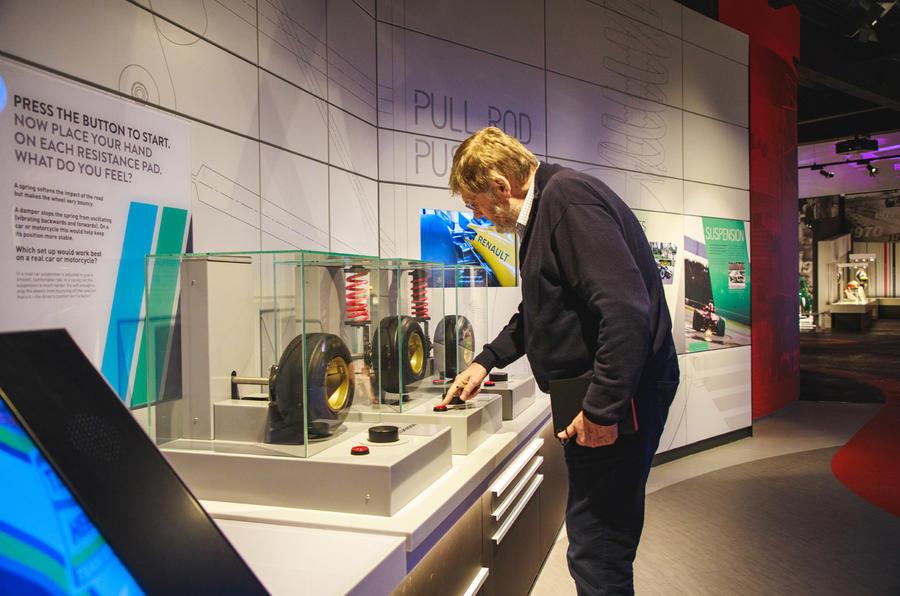 Steve Cropley perusing suspension display