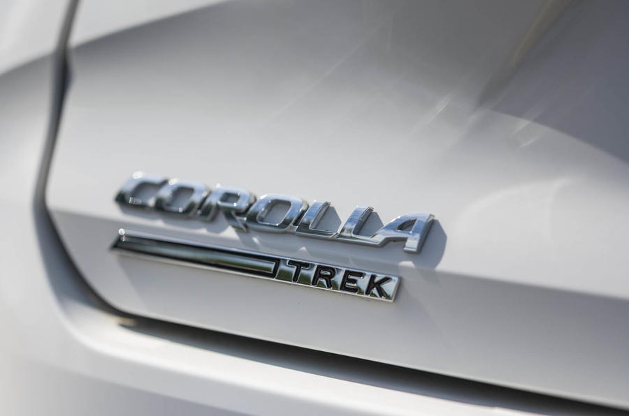Toyota Corolla Trek 2020 UK first drive review - rear badge