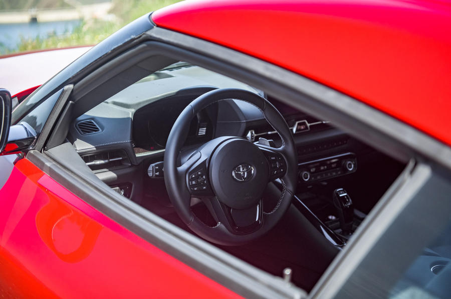 Toyota GR Supra 2019 first drive review - cabin