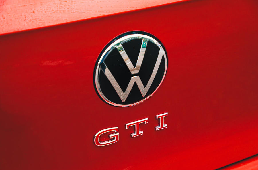 Volkswagen Golf GTI 2020 UK first drive review - rear badge