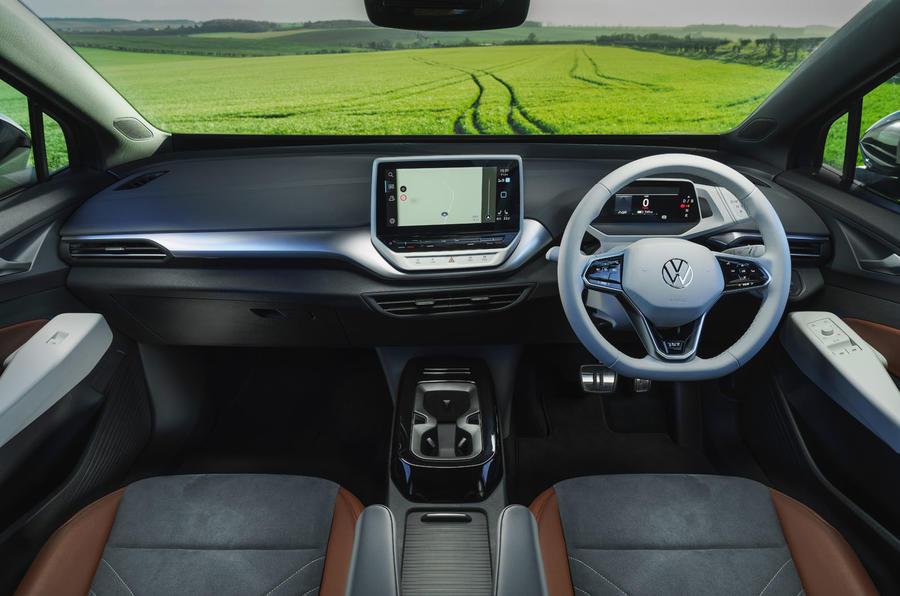 8 Volkswagen ID 4 2021 UE premier essai essai tableau de bord