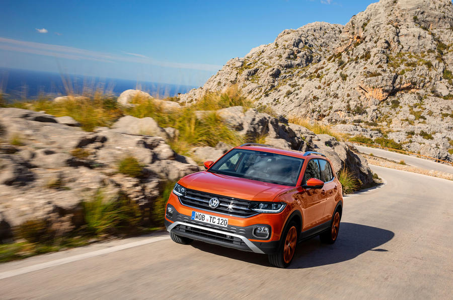 Volkswagen T-Cross 2019 first drive review - cornering front