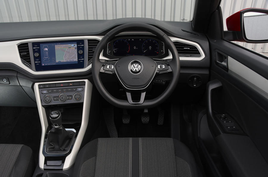 Volkswagen T-Roc Cabriolet 2020 UK first drive review - dashboard