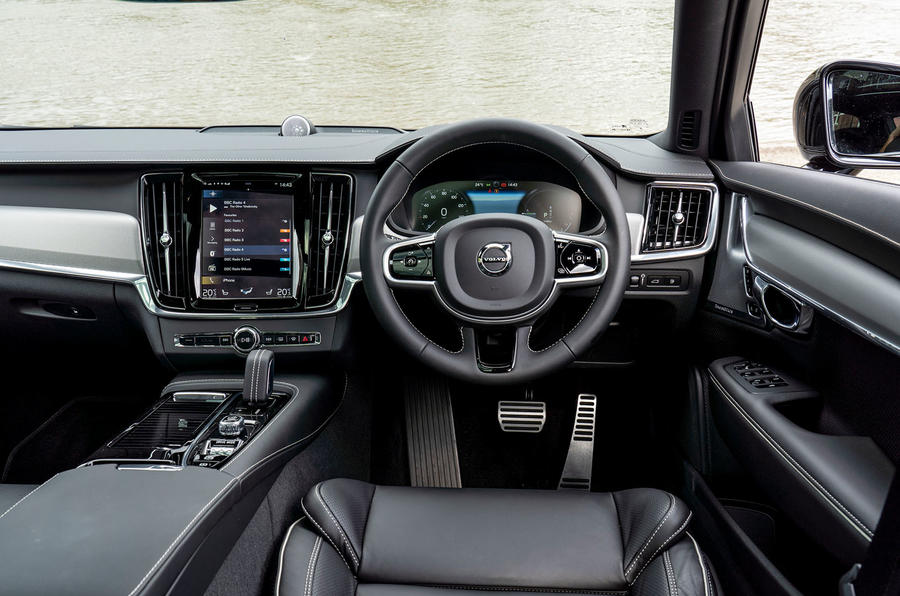 Volvo V90 Recharge T6 2020 UK first drive review - dashboard