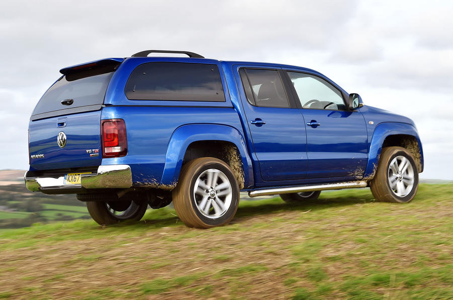 Volkswagen Amarok V6 2018 UK review offroad rear