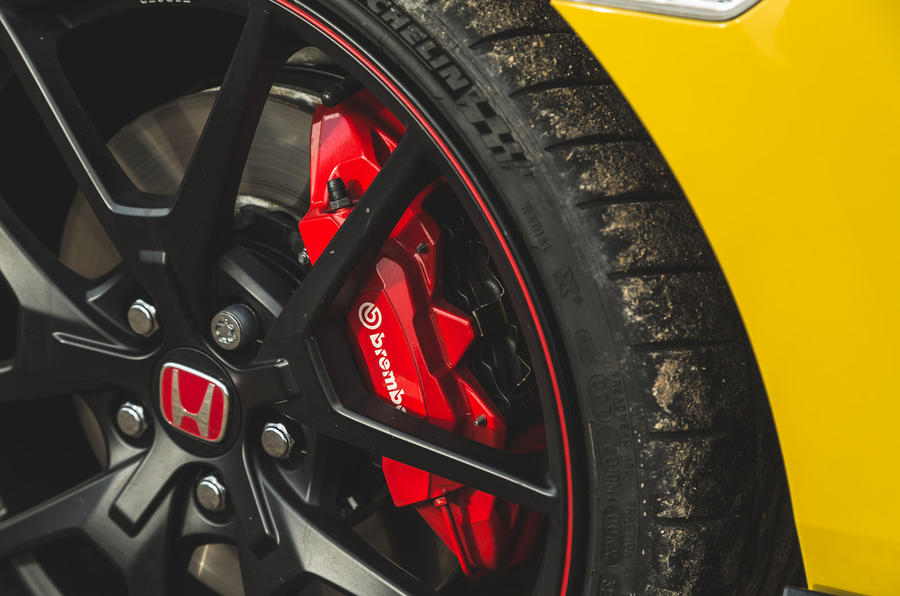 Britain's best affordable drivers car 2020 - Honda Civic Type R limited - brake calipers