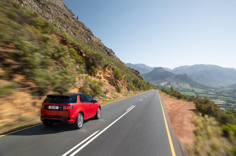 Land Rover Discovery Sport 2019 official pictures - on the road rear