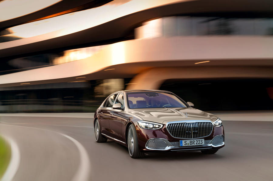 2021 Mercedes-Maybach S-Class official images - cornering front