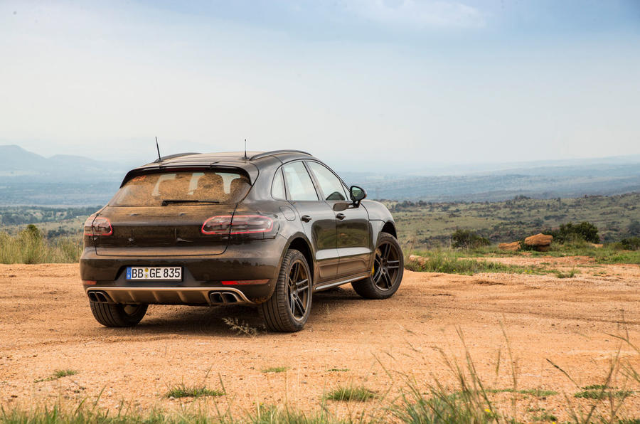 Porsche Macan prototype 2018 static rear