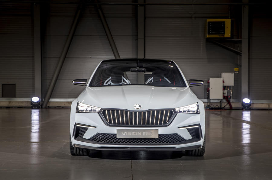Skoda Vision RS concept drive - static front