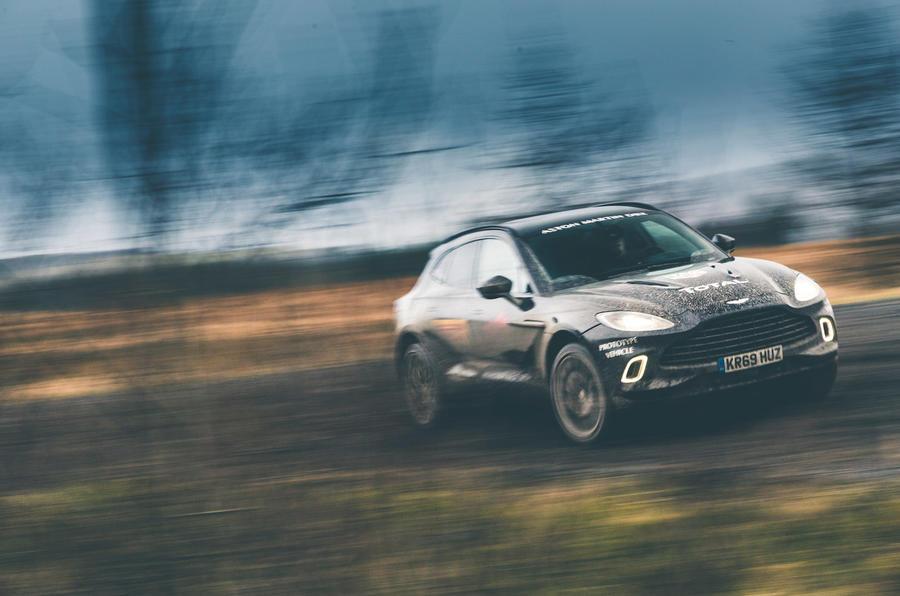 Aston Martin DBX 2020 prototype drive - cornering front