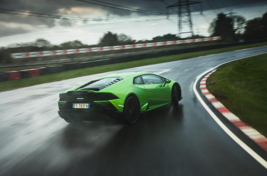 Britain's best drivers car 2020 - Lamborghini drift rear