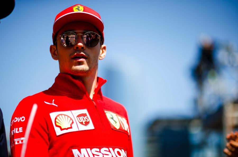 Charles Leclerc interview, 2019 British Grand Prix - sunglasses