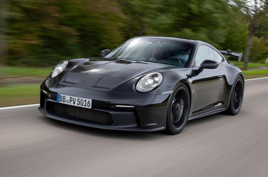 Porsche 911 GT3 2021 passenger ride - driving front