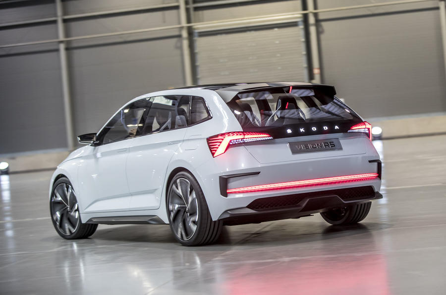Skoda Vision RS concept drive - drive rear
