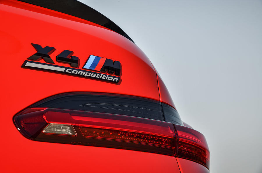 BMW X4M official press - rear badge