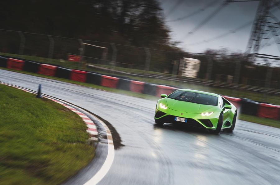 Britain's best drivers car 2020 - Lamborghini drift front