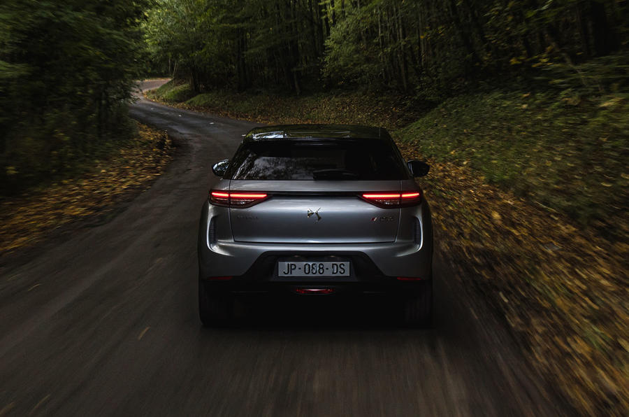 DS 3 E-Tense 2019 first drive - on the road rear end