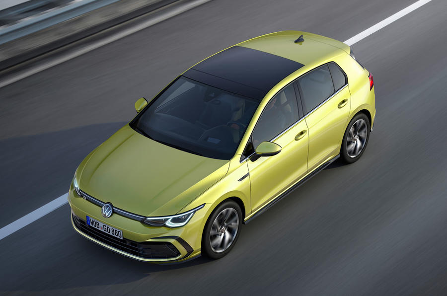 2020 Volkswagen Golf Mk8 official press - R-line aerial