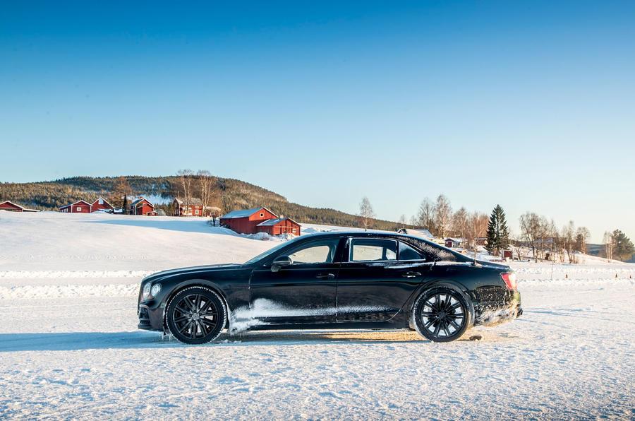Bentley Flying Spur 2020 development ride - static side