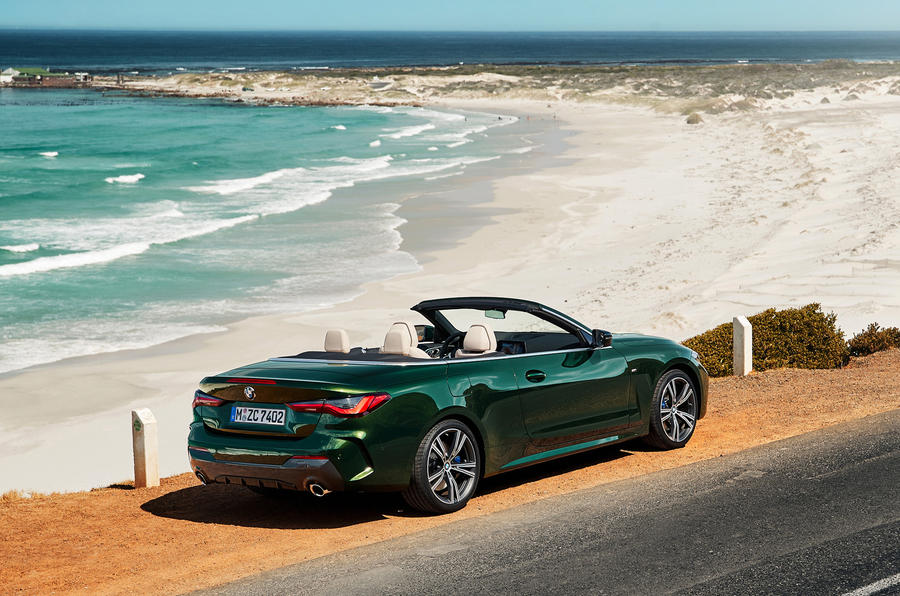 2021 BMW 4 Series Convertible official images - static rear