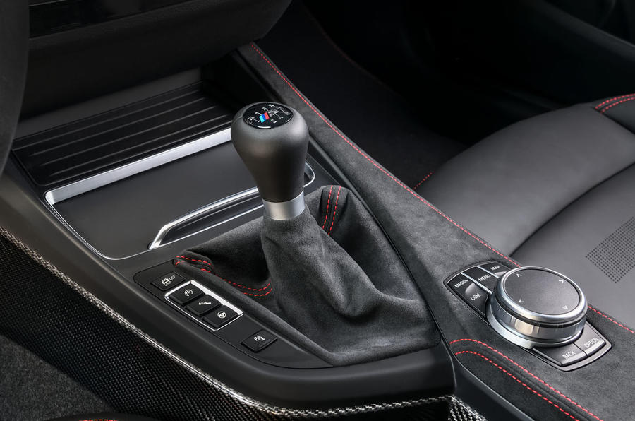 BMW CS 2020 official press images - gearstick