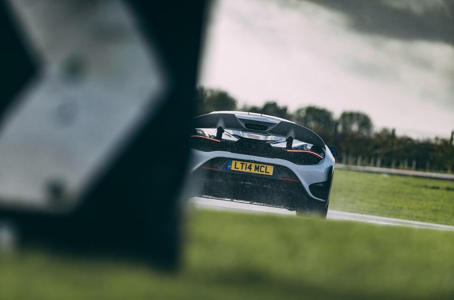 Britain's best drivers car 2020 - Mclaren track rear
