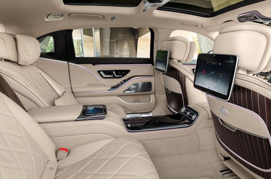 2021 Mercedes-Maybach S-Class official images - rear infotainment