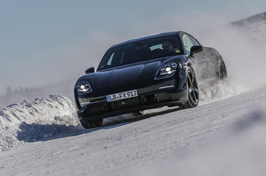 Porsche Taycan prototype ride 2019 - cornering