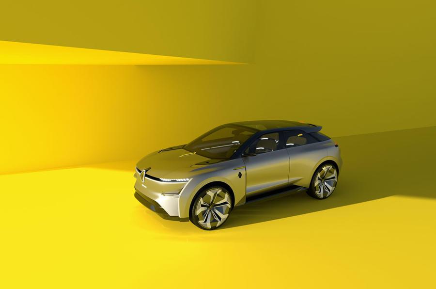 Renault Morphoz concept official studio images - retracted