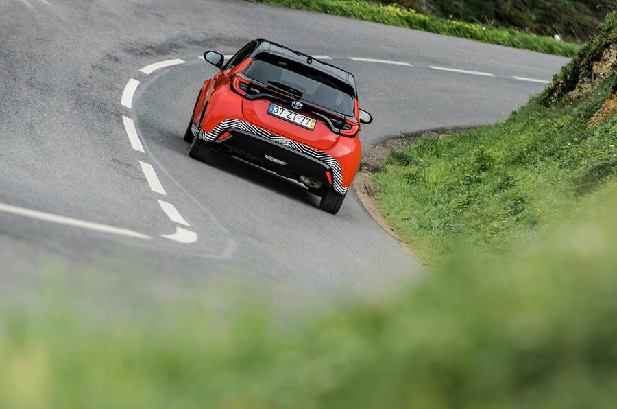 2020 Toyota Yaris prototype drive - twisty roads rear