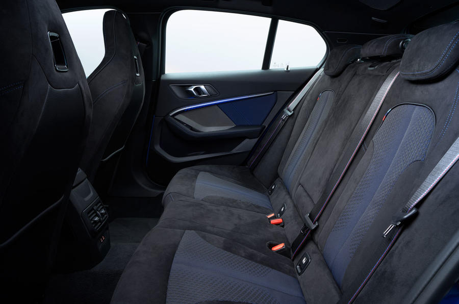 BMW 1 Series 2019 official reveal - rear seats