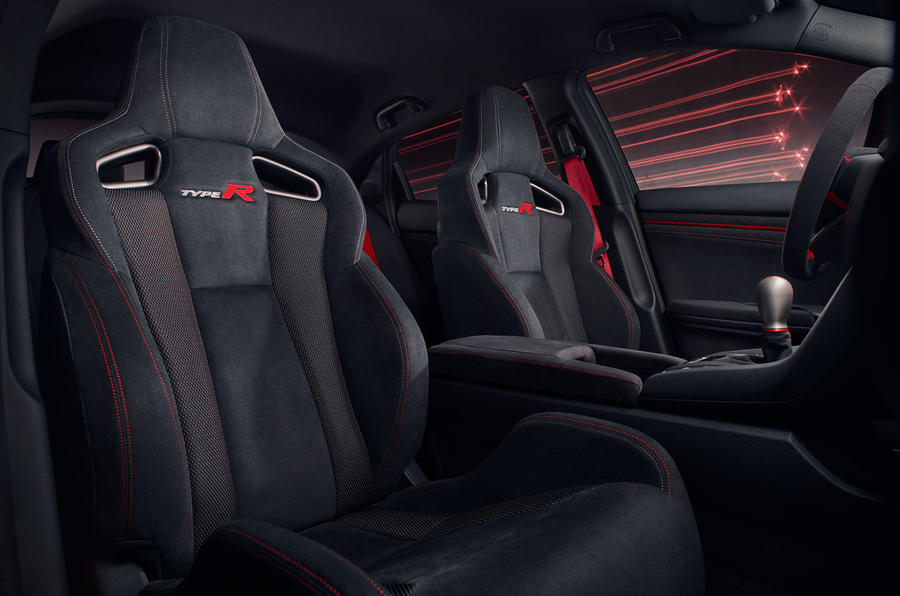 Honda Civic Type R sport line 2020 official press photos - seats