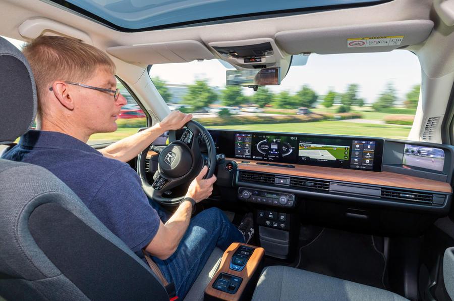 Honda e 2019 prototype drive - James Attwood cornering