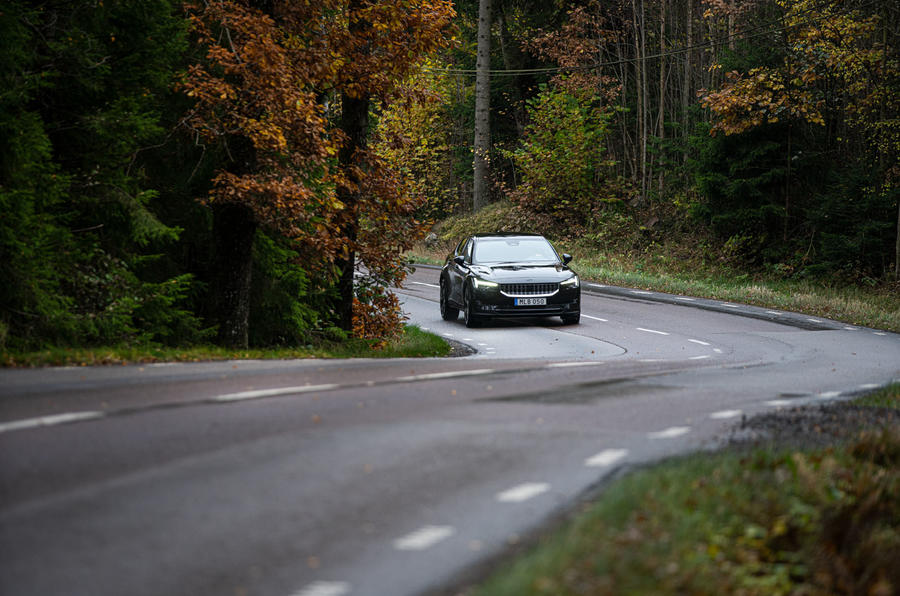 2020 Polestar 2 prototype drive - on the road twisty
