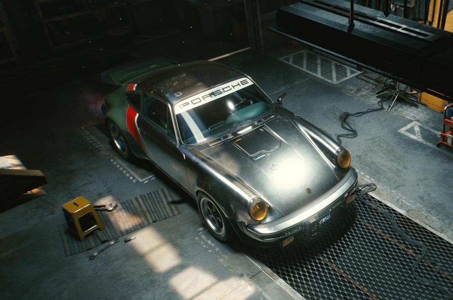 Porsche 911 Cyberpunk 2077 tie-in - static