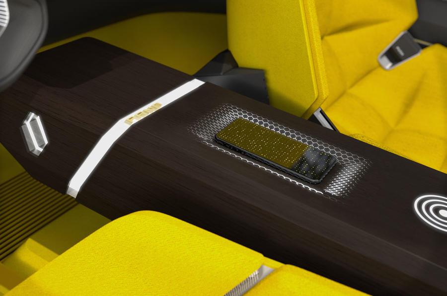 Renault Morphoz concept official studio images - centre console