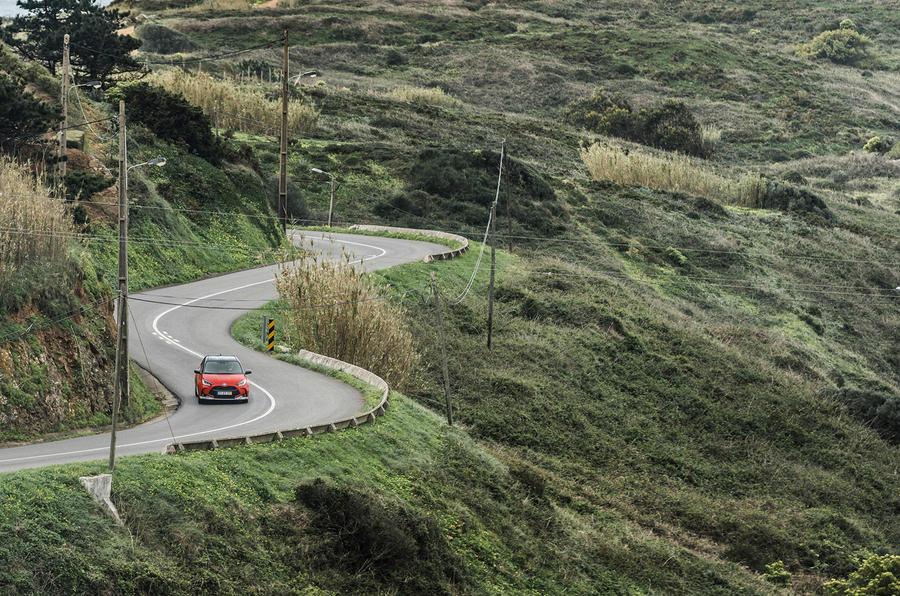 2020 Toyota Yaris prototype drive - twisty roads front